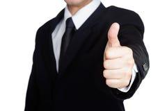 Guter Besuch Erfolg des Geschäftsmannes Handlokalisiert Stockbild