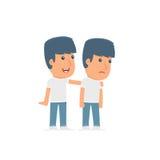 Guter Charakter-Aktivist interessiert sich und hilft zu seinem Freund in schwierige Zeiten vektor abbildung