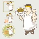 Guter Geschmack des asiatischen Lebensmittels des Chefs verantwortlichen anwesenden sauberen Lizenzfreie Stockfotografie