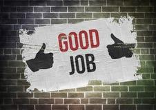 Guter Job Lizenzfreie Stockbilder