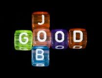Guter Job des Kreuzworträtsels Lizenzfreies Stockfoto