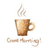 Guter Morgen der Kaffeetasse Stockfoto