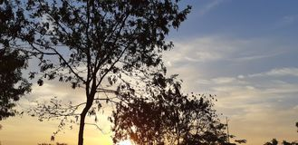 Guter Morgen des Himmels stockfotos
