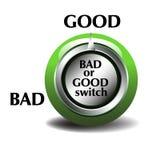 Guter oder schlechter Schalter Stockbilder