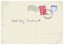 'Guter Tag, Sonnenschein' Postkarte Lizenzfreie Stockfotos