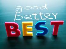 Gutes, besseres und bestes Konzept Lizenzfreie Stockfotos