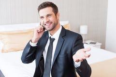 Gutes Geschäftsgespräch Lizenzfreies Stockbild