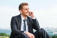 Gutes Geschäftsgespräch Lizenzfreie Stockfotos