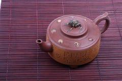 Gutes Glück-Chinese-Teekanne Lizenzfreies Stockfoto