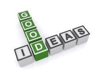Gutes Ideenkreuzworträtsel Stockbild