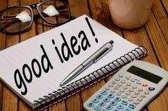 Gutes Ideenwort Lizenzfreies Stockfoto