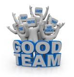 Gutes Team - Leute mit Teamwork-Qualitäten lizenzfreie abbildung