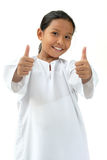 Gutes Zeichen des Schule-Mädchenerscheinens Lizenzfreies Stockbild