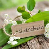 Gutschein - coupon. Description field with german text: Coupon Royalty Free Stock Image