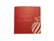 Gutschein für Weihnachten und neues Jahr Stockfoto