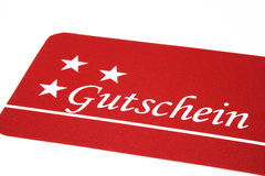 Gutschein/ Giftcard Royalty Free Stock Image