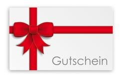 Gutschein Karte Fotografía de archivo libre de regalías