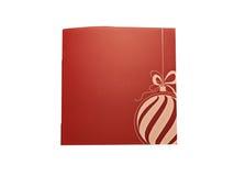 Gutschein mit copyspace für Weihnachten und neues Jahr Lizenzfreies Stockfoto