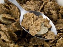 Gutschrift-Knirschen-Frühstückskost aus Getreide Stockbild