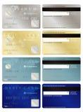Gutschrift und Debitkarten Lizenzfreie Stockfotos
