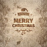 Gutshof geknitterte verkratzte alt-aussehende Weihnachtskarte Lizenzfreies Stockfoto