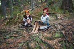 Gutsulka在喀尔巴阡山脉的森林里 免版税图库摄影