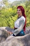 Gutsulka dans la forêt carpathienne Image stock