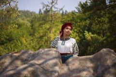 Gutsulka en el bosque cárpato Imagen de archivo libre de regalías