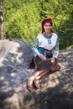 Gutsulka en el bosque cárpato Imagenes de archivo