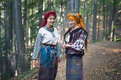 Gutsulka en el bosque cárpato Foto de archivo libre de regalías