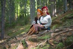 Gutsulka en el bosque cárpato Imagen de archivo