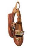 Gutsuls footwear. Traditional footwear of mysterious Gutsul - the ancient people of the Carpathian stock photography