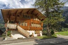 Guttannen, Switzerland, chalet brown Royalty Free Stock Photos