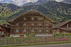 Guttannen, Switzerland, chalet brown Royalty Free Stock Images