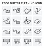 Gutter cleaning icon stock illustration