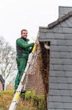 Gutter Cleaning Royalty Free Stock Photos
