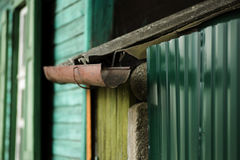 Gutter downspout Stock Image