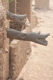 Gutter like crocodile, Mali, Africa. Royalty Free Stock Image