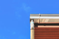 Gutter on the roof Stock Images
