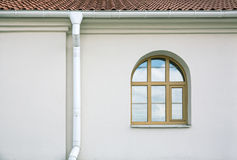 Gutter with window Royalty Free Stock Images