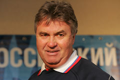 guus hiddink Royaltyfria Bilder