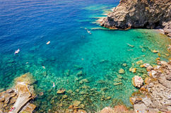 Guvano beach, Corniglia Royalty Free Stock Images