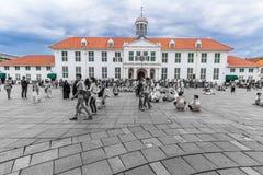 Guverneurs Kantoor eller regulators sikt för vinkel för kontor bred, gammalt stadsturismområde/Kawasan Wisata Kota Tua arkivfoto