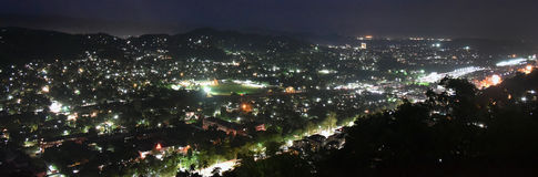 Guwahati City of Assam. A wide night view of Guwahati city in Assam Stock Photography
