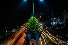 Guwahati. Traffic evening Stock Photography