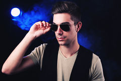 Guy in aviator sunglasses Royalty Free Stock Photos
