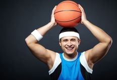 Guy with ball Royalty Free Stock Photos