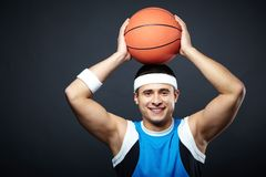 Guy with ball Royalty Free Stock Photography
