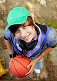 Guy with ball Royalty Free Stock Image