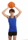 Guy with basketball Stock Photo